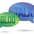 Stock Photo: Talking and blogging messages illustration design