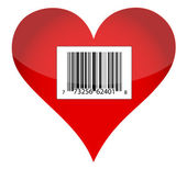Barcode heart illustration design — Foto de Stock