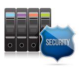 Secure server shield illustration design — Stock Photo