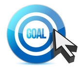 Target goal with cursor illustration — Stock Photo