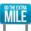 Go the extra mile illustration design - Stock Photo