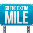 Go the extra mile illustration design — Stock Photo #13838378