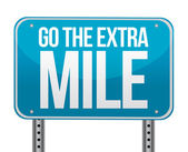 Go the extra mile illustration design — Stockfoto