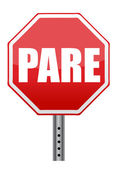 Spanish stop sign illustration design — Stock Photo
