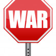 Red stop war sign illustration design — Stock Photo