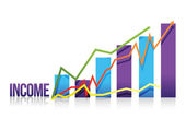 Income colorful graph illustration — Stock Photo