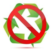Do not recycle illustration design — Stock Photo