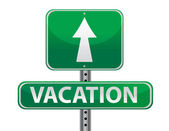 Vacation sign illustration design — Stock Photo
