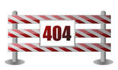 404 barrier illustration design — Stock Photo