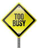 Too busy yellow illustration design — Stock Photo