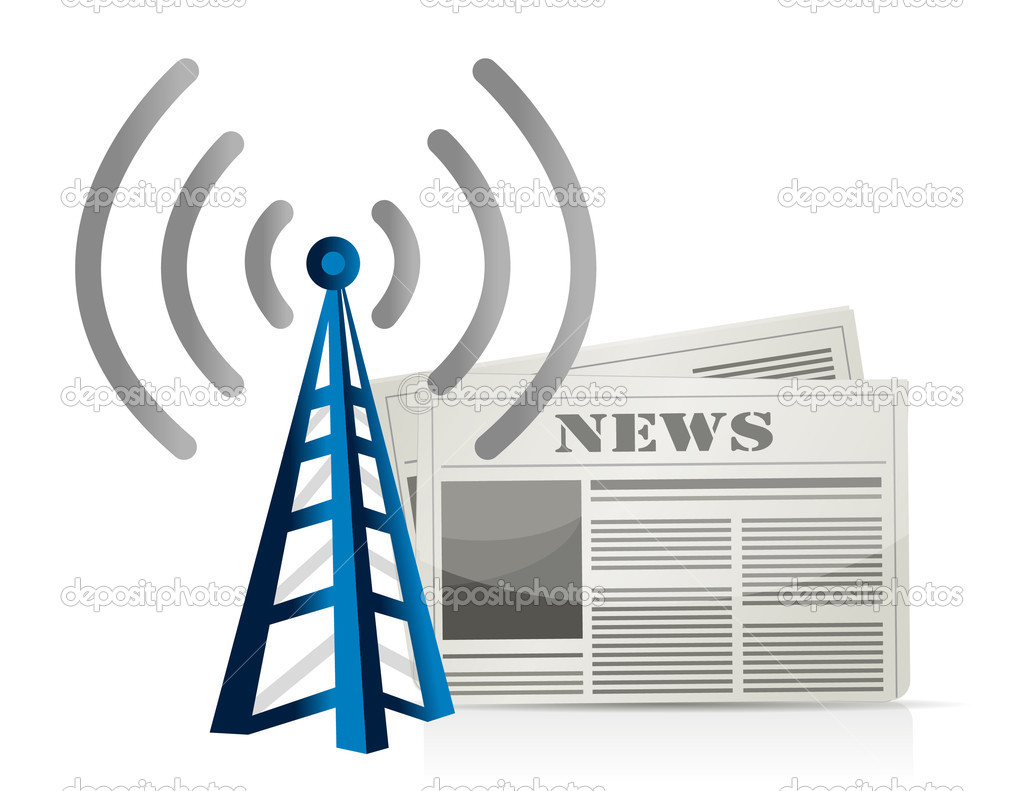 Wifi news illustration design over white background — Stock Photo #13941025