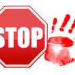 Stock Photo: Stop handprint illustration design