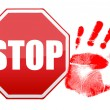 stop handprint illustration design — Stock Photo