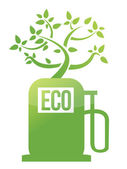 Eco tree gas pump illustration design — Stock Photo