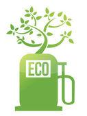Eco design de ilustração de bomba de gás de árvore — Foto Stock