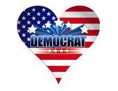 Democrat party usa heart illustration design — Stock Photo