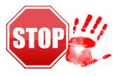 Stop handafdruk afbeelding ontwerp — Stockfoto