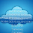 Royalty-Free Stock Photo: Cloud computing binary blue background