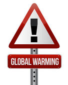 Global warming street sign illustration design — Stock Photo