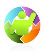 Icon cycle illustration design — Stock Photo