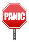 Panic stop sign illustration design — Stock Photo