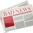 Stock Photo: Bad news newspaper illustration design