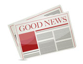 Good news newspaper illustration design — Stock Photo