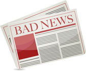 Bad news newspaper illustration design — Stock Photo