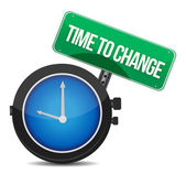 Time to change concept illustration design — Stock Photo