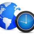 Foto Stock: Globe watch illustration design