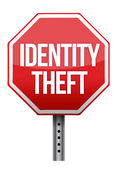 Identity theft sign illustration design — Stock Photo