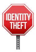Identity theft sign illustration design — Stock Photo