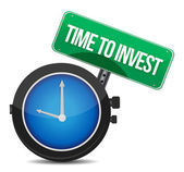 Time to invest concept illustration design — Stock Photo