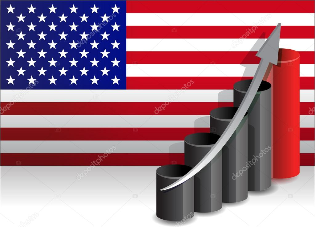 US economy improving business graph illustration design — Stock Photo #14130541