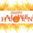 Royalty-Free Stock Photo: Halloween fire banner illustration design