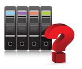 Server question mark illustration — Stock Photo