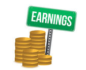 Earnings illustration design — Stock Photo