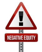 Negative equity sign illustration — Stock Photo