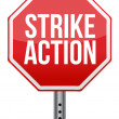Strike action illustration sign - Stock Photo