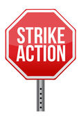 Strike action illustration sign — Stock Photo