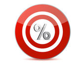 Target discounts percentage sign — Stock Photo