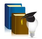 Myšlenka knihy vzdělání — Stock fotografie