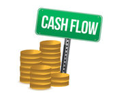 Cash flow and signs — Stock Photo