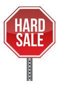 Hard sale sign — Stock Photo