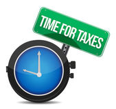 Time for taxes — Stock Photo