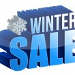 Winter sale 3d text — Stock Photo #14559873