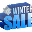 Winter sale 3d text — Stock Photo