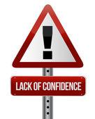 Lack of confidence — Stock Photo