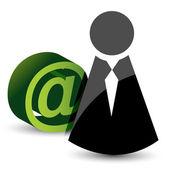 Ikonen och att - mail tecken — Stockfoto