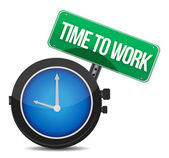 Time to work concept — Stock Photo